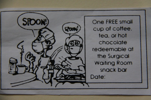 Free Drink at the Hospital