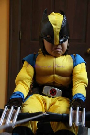 We are an indoor rowing family.  My son is dressed as Wolverine with a serious look on his face.  He wants to beat his record too!