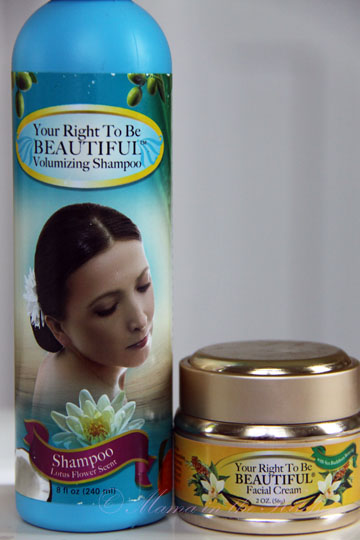 Your Right To Be Beautiful Volumizing Shampoo and Anti-Aging Facial Cream