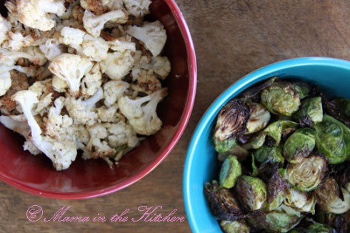 Roasted Cauliflower and Brussels Sprouts