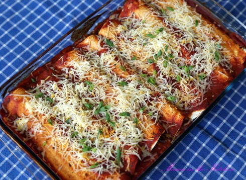 Black Bean, Sweet Potato, Rice Enchilada 2